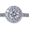 1.01 ct. Round Cut Halo Ring, F, SI2 #3