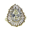 1.03 ct. Pear Cut Central Cluster Ring, M-Z, VVS2 #3