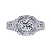 1.01 ct. Round Cut Halo Ring, I, VS2 #2