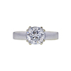 1.57 ct. Round Modified Brilliant Cut Solitaire Ring, E, I1 #4