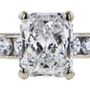 0.93 ct. Radiant Cut Bridal Set Ring, G, SI2 #4