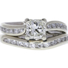 0.96 ct. Radiant Cut Bridal Set Ring, J, SI1 #3