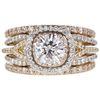 1.03 ct. Round Cut Bridal Set Ring, E, VS2 #3