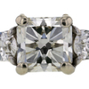 2.12 ct. Radiant Cut 3 Stone Ring #4