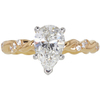 1.3 ct. Pear Cut Solitaire Ring, H, VS1 #3