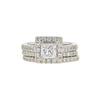0.93 ct. Princess Cut Bridal Set Ring, E-F, I1 #2