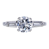 1.12 ct. Round Cut 3 Stone Ring, F, I1 #3