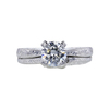 1.24 ct. Round Cut Bridal Set Ring, F, I1 #3