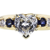 1.17 ct. Heart Cut Bridal Set Ring, F, VS2 #4