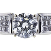 1.01 ct. Round Cut Bridal Set Ring, I, SI2 #4