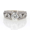 .95 ct. Round Cut Central Cluster Ring #3