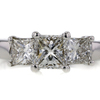 0.90 ct. Princess Cut 3 Stone Ring #1