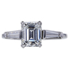 1.56 ct. Emerald Cut Solitaire Ring, F, VS1 #2