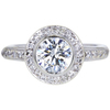 1.22 ct. Round Cut Halo Ring, J, SI2 #3