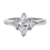 0.72 ct. Marquise Cut 3 Stone Ring, F-G, VS1 #1