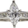 0.95 ct. Marquise Cut Solitaire Ring, F, I1 #4
