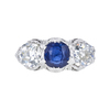 1.58 ct. Round Cut 3 Stone Ring, Blue, SI1-SI2 #2