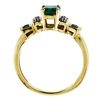 Emerald Cut Bridal Set Ring, Green, VS1-VS2 #3