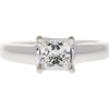 0.97 ct. Princess Cut Solitaire Ring, F, VS2 #3