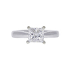 1.12 ct. Princess Cut Solitaire Ring, F-G, I1 #2