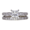 1.01 ct. Princess Cut Bridal Set Ring, G, VS2 #3