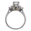 0.94 ct. Round Cut 3 Stone Ring, H, SI1 #1