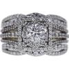 0.69 ct. Round Modified Brilliant Cut Bridal Set Ring, F, SI2 #3