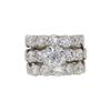 1.41 ct. Old European Cut Bridal Set Ring, H, SI2 #3