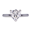 1.30 ct. Heart Cut Solitaire Ring, G, SI2 #3