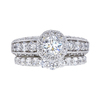 0.51 ct. Round Cut Bridal Set Ring, H, SI1 #3