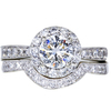 0.91 ct. Round Cut Bridal Set Ring, F, SI1 #3