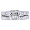 0.90 ct. Cushion Cut Bridal Set Ring, I, VS2 #3