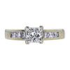 Art Deco GIA 0.82 ct. Princess Cut Solitaire Ring, I, VS1 #3