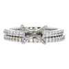 2.02 ct. Round Cut Bridal Set Ring, D, SI1 #4