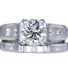 1.50 ct. Round Cut Bridal Set Ring, I, SI2 #1