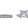 4.05 ct. Princess Cut Bridal Set Tiffany & Co. Ring, G, VS1 #3