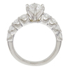 0.9 ct. Round Cut Bridal Set Ring, F, I1 #4