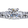 1.22 ct. Round Cut Bridal Set Ring, I, VVS2 #3