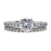 1.01 ct. Round Cut Bridal Set Ring, L, SI1 #2