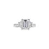 2.01 ct. Emerald Cut 3 Stone Ring, I, VS2 #3