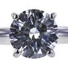 0.77 ct. Round Cut Bridal Set Ring, D, I1 #4
