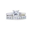 1.11 ct. Princess Cut Bridal Set Ring, D, I1 #3