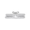 1.01 ct. Asscher Cut Bridal Set Ring, I, VS1 #3