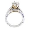 1.23 ct. Round Cut Bridal Set Ring, J, I1 #4