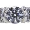 0.91 ct. Round Cut Bridal Set Ring, E, SI1 #2