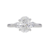 1.49 ct. Oval Cut 3 Stone Ring, D, SI1 #3