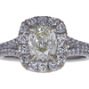 1.41 ct. Cushion Cut Halo Ring, K, SI1 #3