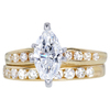 1.09 ct. Marquise Cut Bridal Set Ring, F, SI2 #1