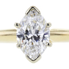 0.99 ct. Marquise Cut Solitaire Ring, D, SI1 #4