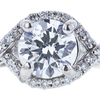 0.84 ct. Round Cut Bridal Set Ring, E, VS1 #4